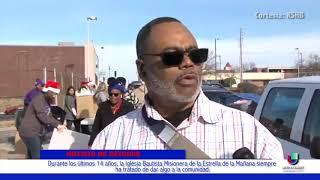 La Iglesia Bautista Misionera de la Estrella de la Mañana repartió alimentos a los más necesitados
