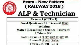 Indian Railway Alp assistant loco pilot/Technician syllabus details 2018