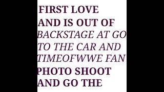 WWE ROMAN REIGNS LOVE  RONDA ROUSEY