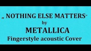 "Gitar "" NOTHING ELSE MATTERS "" Cover"