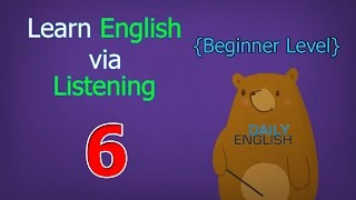 Learn English via Listening Beginner Level | Lesson 6 | My First Pet