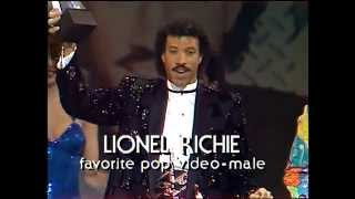 Lionel Richie Wins Pop Male Video - AMA 1985