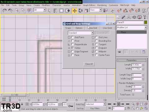 3DMax Dersleri - 0B8 Autocad Plan Resmi ile çizim