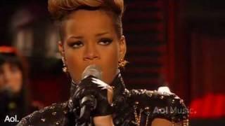 Rihanna- Rihanna Russian roulette  AOL Session 2010 HQ  Live