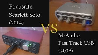 Focusrite Scarlett Solo VS M-Audio Fast Track USB -  instrumental input test