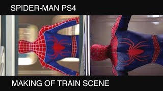 Spider-Man PS4 - MAKING OF Train Scene (Spider-Man 2)