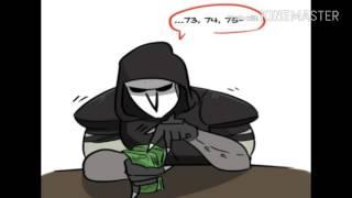 Overwatch curtas (fandublado pt br): Reaper counting money.