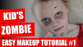 Halloween Makeup Tutorial - Kids Zombie Makeup