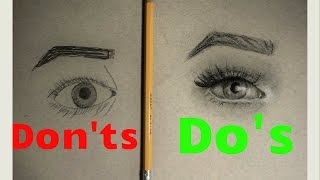 Realistic Eye Drawing: What TO do/What NOT to do