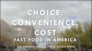 Choice, Convenience, Cost: Fast Food in America | C-SPAN StudentCam 2019