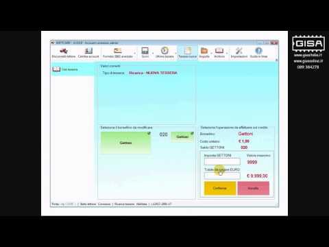 SOFTCARD - Cambiare il credito della tessera ovale ricarica