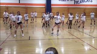 Solvay girls volleyball team performs dance routine for engaged coach