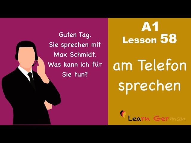 Learn German | A1 - Lesson 58 | am Telefon sprechen | To make telephone conversation