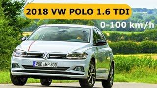 2018 VW Polo 1.6TDI 95HP,  0-100 km/h
