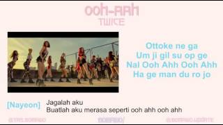 TWICE - OOH-AHH [MV, EASY LYRIC, LIRIK INDONESIA]