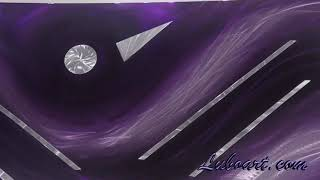 """purple Metal art collage long high wall decor """"New Rules"""" Original by: Lubo Naydenov"""
