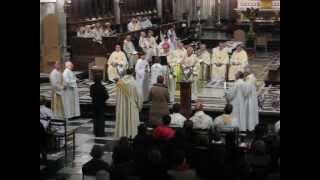 Messe chrismale 2013, Liège, chant du Veni Creator Sprititus