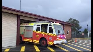 FRNSW Rescue Pumper 8 Liverpool Turning Out & Responding (Varley SEV)