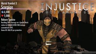 Injustice: Gods Among Us - New Character Unlocked Scorpion Mortal Kombat X Gameplay