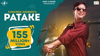PATAKE (Full Video) || SUNANDA SHARMA || Latest Punjabi Songs 2016 || AMAR AUDIO width=