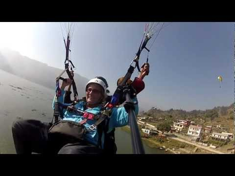 Michelle Parahawking in Nepal