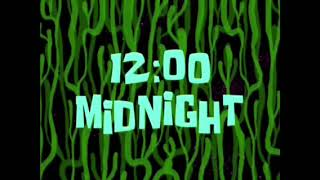 12:00 midnight Spongebob time card. [123]