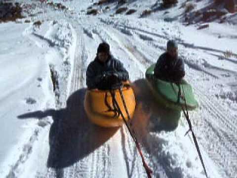 Snow Kayaking Wipe-Out