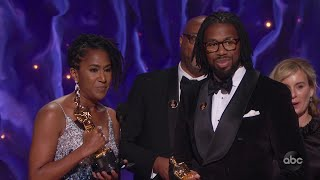 HAIR LOVE Accepts the Oscar for Animated Short