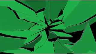 GREEN SCREEN GLASS BREAKING
