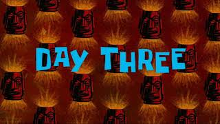 Day three spongebob timecards