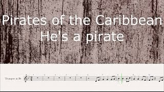 Trumpet Cover ~ Pirates of the Caribbean - He's a pirate