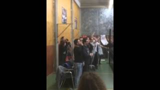 Zack Sabre Jr. entrance at wrestling show in Italy