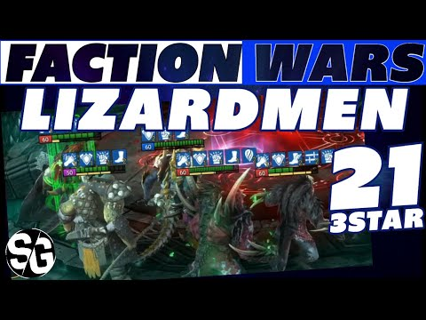 LIZARDMEN 21👉 THREE STAR 👉 FUSION CHAMPIONS | RAID SHADOW LEGENDS