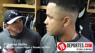 Jose Abreu American League Player y Rookie of the Month