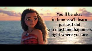 Moana - Where You Are (Lyrics)