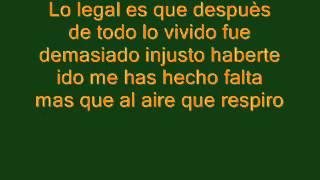 El Bebeto - Lo Legal. (Con letra)