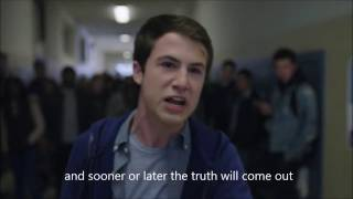 Clay's speech to the exchange students -13 reasons why - English subtitles