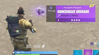 *NEW* Shockwave Grenade Gameplay! How They Work in Fortnite Battle Royale!