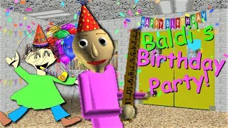 CELEBRATE BALDI'S BIRTHDAY WITH A PARTY!! | Baldi's Basics MOD: Baldi's Birthday
