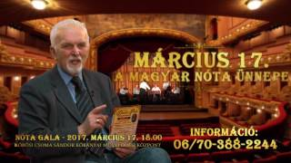 A Magyar Nóta Ünnepe  - Nóta Gála 2017. március 17.
