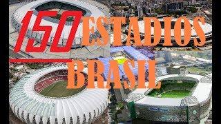 TOP 150 maiores estádios no Brasil em capacidade