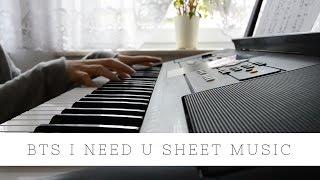 BTS - I Need U | sheet music | PUMA CM | Suga piano version