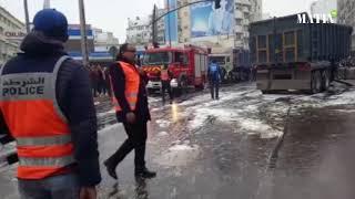 Casablanca : Un camion entre en collision avec le tramway