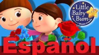 La rosa es roja | Canciones infantiles | LittleBabyBum
