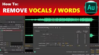 How to remove vocals from a song in adobe audition videos / InfiniTube