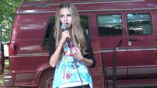 Mine - Taylor Swift - cover live by 11 yr old Madi :)