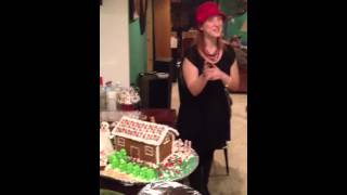 Punching a gingerbread house on Christmas like Chuck Norris