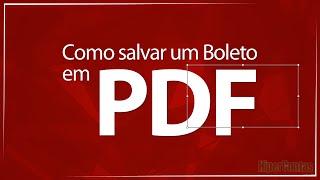 Como salvar boleto em formato PDF