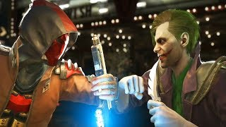 Injustice 2 - All Red Hood vs Joker Intros/Clashes