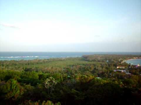 Nicaragua — Little Corn Island view of the whole island
